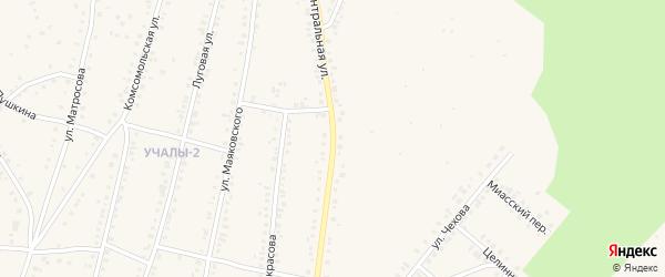 Центральная улица на карте Учалы с номерами домов