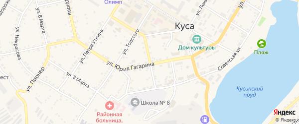 Улица Фрунзе на карте Кусы с номерами домов