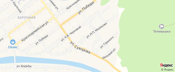 Улица И.П.Маликова на карте Кусы с номерами домов