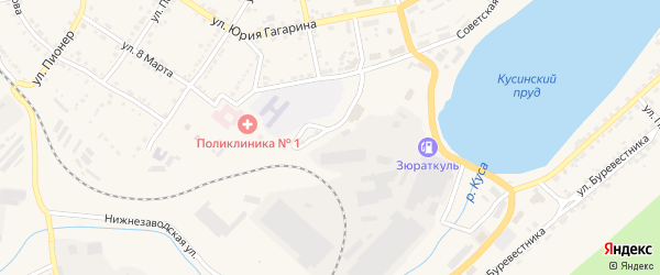 Нагорная улица на карте Кусы с номерами домов