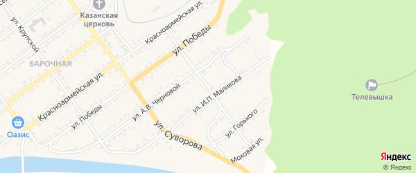 Улица Анны Прокопьевой на карте Кусы с номерами домов