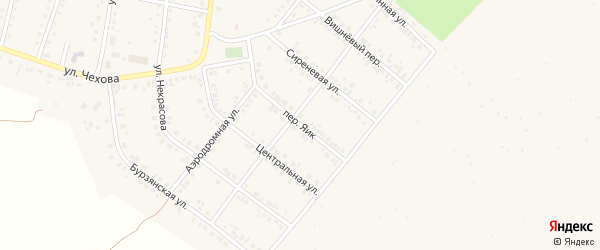 Сиреневый переулок на карте Учалы с номерами домов