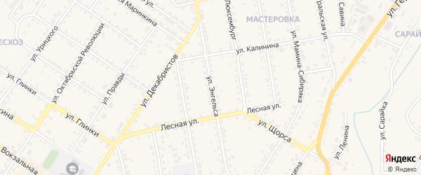 Улица Энгельса на карте Кусы с номерами домов