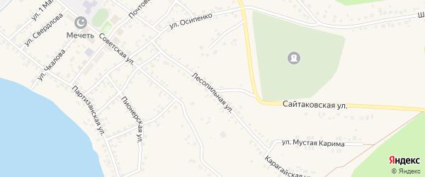 Лесопильная улица на карте села Учалы с номерами домов