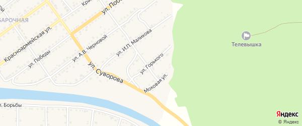 Улица Горького на карте Кусы с номерами домов