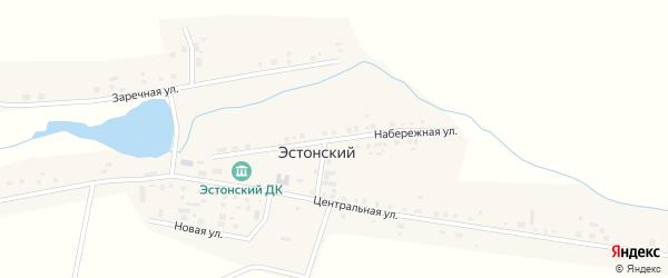 Набережная улица на карте Эстонского поселка с номерами домов