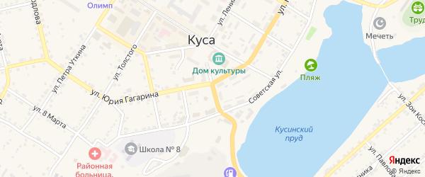 Улица Андроновых на карте Кусы с номерами домов