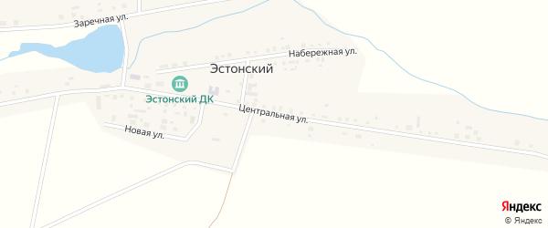 Центральная улица на карте Эстонского поселка с номерами домов