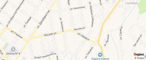Лесная улица на карте Кусы с номерами домов