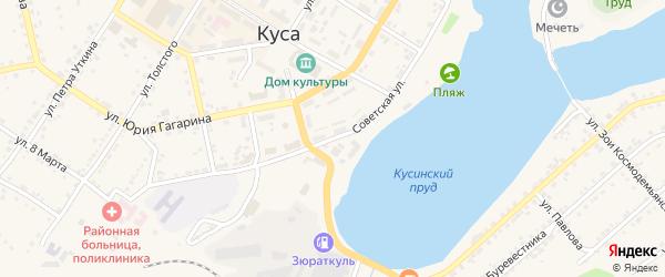 Советская улица на карте Кусы с номерами домов