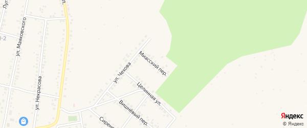 Миасский переулок на карте Учалы с номерами домов