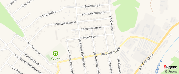 Новая улица на карте Кусы с номерами домов