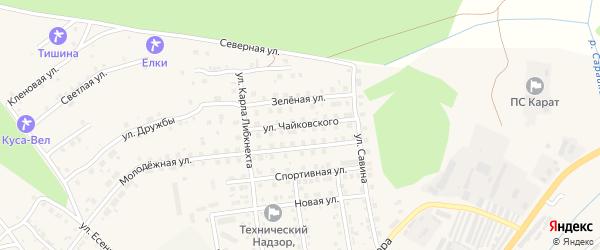 Улица Чайковского на карте Кусы с номерами домов