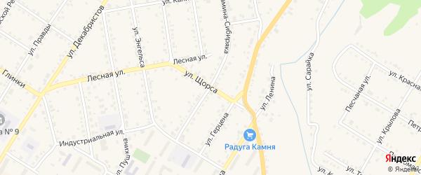 Улица Щорса на карте Кусы с номерами домов