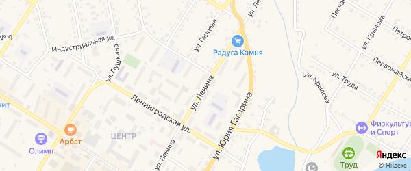 Улица Ленина на карте Кусы с номерами домов