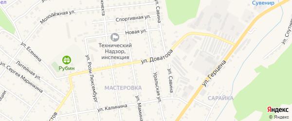 Улица Доватора на карте Кусы с номерами домов