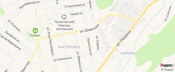 Уральская улица на карте Кусы с номерами домов