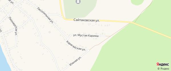 Улица Мустая Карима на карте села Учалы с номерами домов