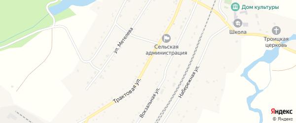 Трактовая улица на карте села Злоказово с номерами домов