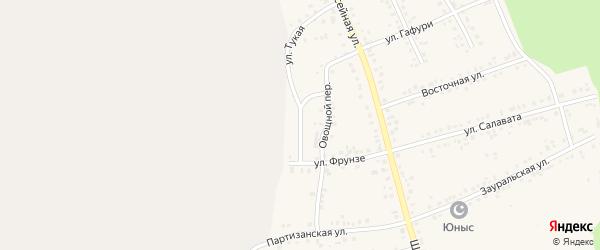 Овощной переулок на карте Учалы с номерами домов