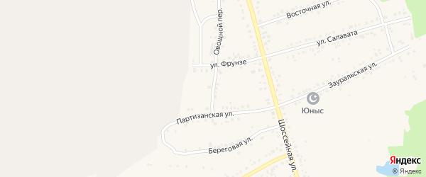 Переулок Фрунзе на карте Учалы с номерами домов