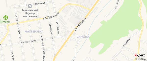 Улица Герцена на карте Кусы с номерами домов