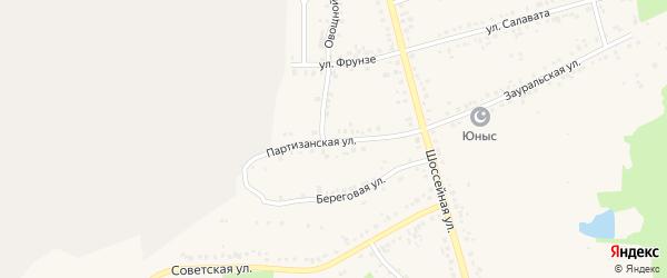 Партизанская улица на карте Учалы с номерами домов