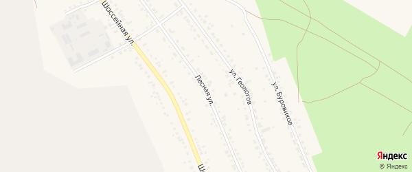 Лесная улица на карте Учалы с номерами домов