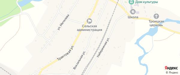 Вокзальная улица на карте села Злоказово с номерами домов