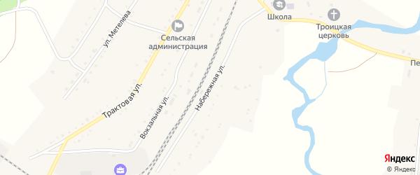 Набережная улица на карте села Злоказово с номерами домов