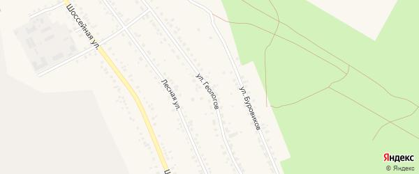 Улица Геологов на карте Учалы с номерами домов