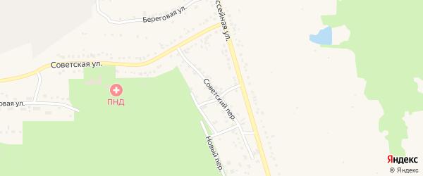 Советский переулок на карте Учалы с номерами домов