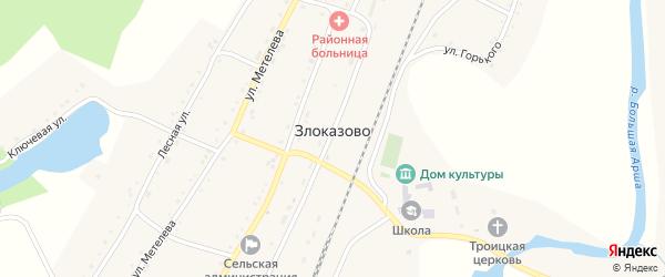 Улица Метелева на карте села Злоказово с номерами домов