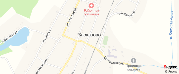Улица Горького на карте села Злоказово с номерами домов