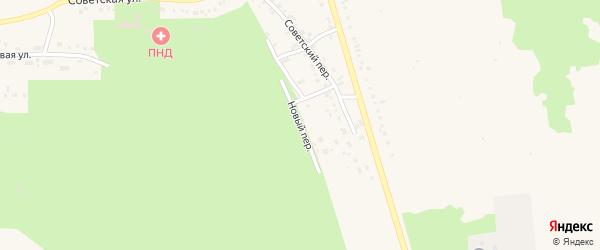 Новый переулок на карте Учалы с номерами домов