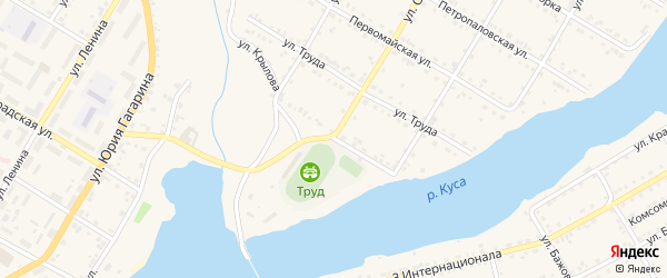 Улица Красные орлы на карте Кусы с номерами домов