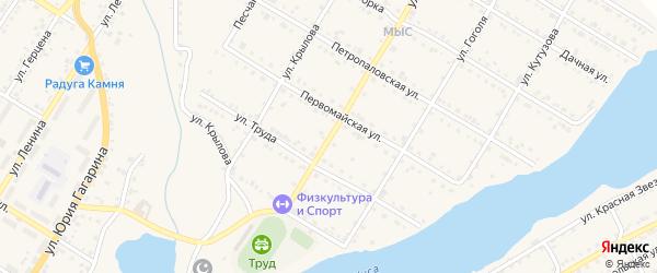 Улица Спартака на карте Кусы с номерами домов