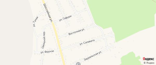 Восточная улица на карте Учалы с номерами домов