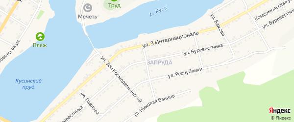 Улица Буревестника на карте Кусы с номерами домов