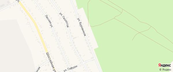 Улица Буровиков на карте Учалы с номерами домов