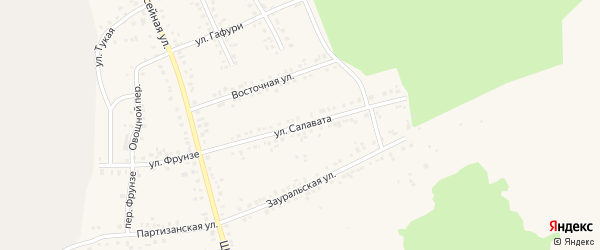 Улица Салавата на карте Учалы с номерами домов