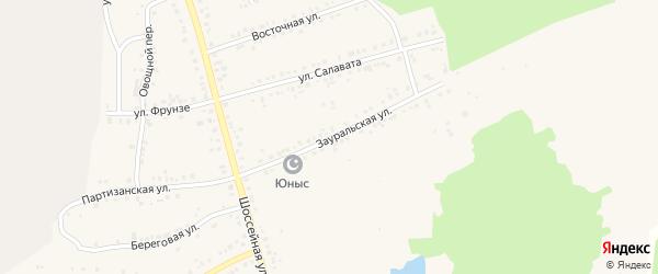 Зауральская улица на карте Учалы с номерами домов