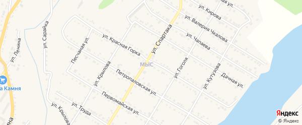 Улица Красная звезда на карте Кусы с номерами домов