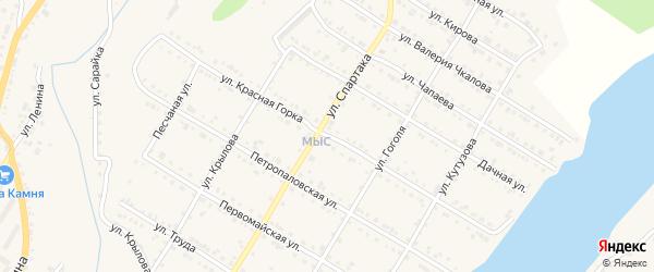 Улица Красная горка на карте Кусы с номерами домов
