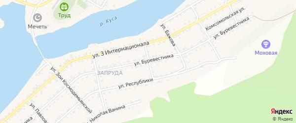 Улица Олега Кошевого на карте Кусы с номерами домов