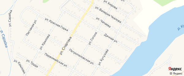 Улица Гоголя на карте Кусы с номерами домов