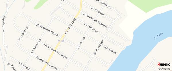 Дачная улица на карте Кусы с номерами домов