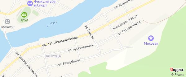Улица Бажова на карте Кусы с номерами домов