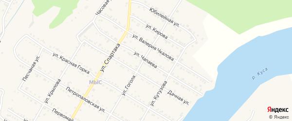 Улица Чапаева на карте Кусы с номерами домов