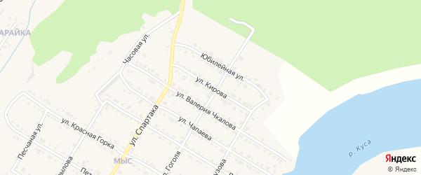 Улица Кирова на карте Кусы с номерами домов